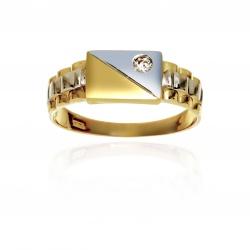 Anello da uomo in oro 750