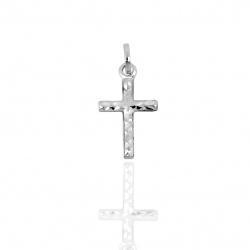 Croce diamantata in oro 750