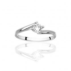 Anello Solitario Con Diamante