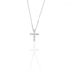 Collier Con Croce Di Diamanti