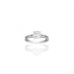 Anello Halo con Diamanti