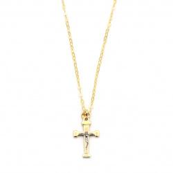 Catena con croce in oro 750