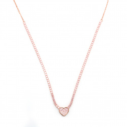 Collier Tennis a Cuore in...