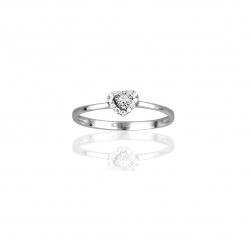 Anello Cuore Con Diamanti